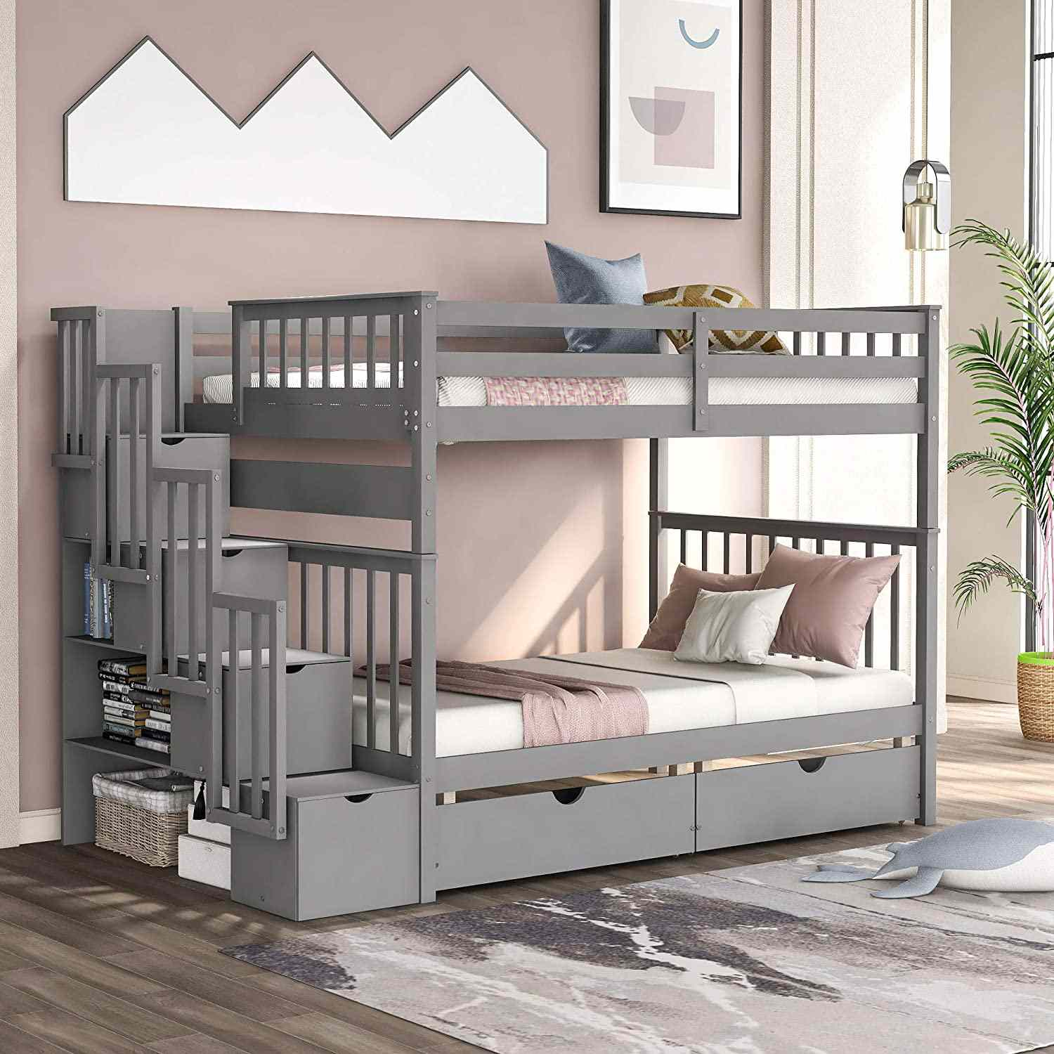 wooden beds for kids